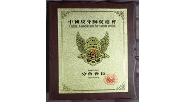 2013年中国纹身协会任新疆会长