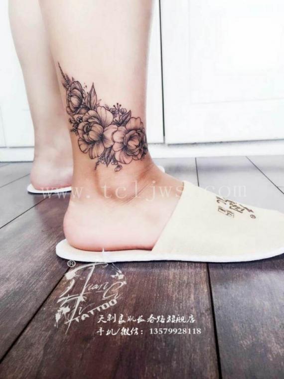小清新花纹身图案