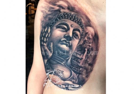 如来佛纹身图案