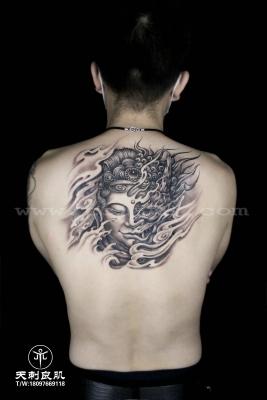 后背一念之间纹身