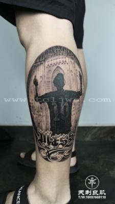 梅西纹身,人物纹身