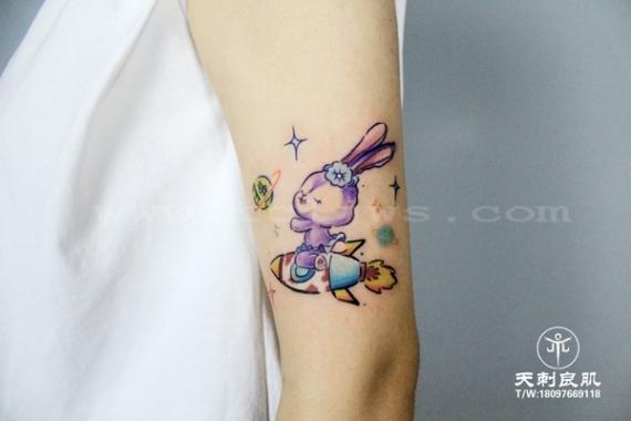 水彩newschool纹身兔子