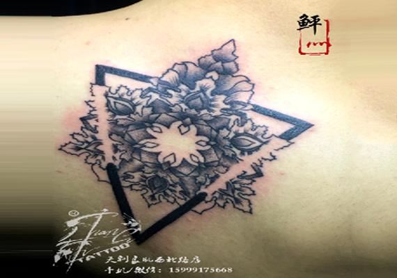 曼陀罗花纹身图案