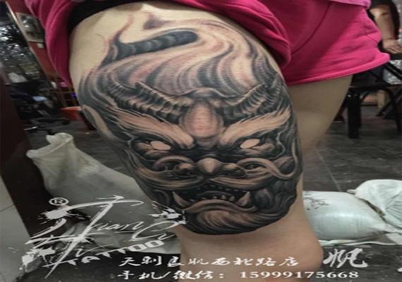博乐龙头纹身作品