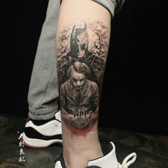克拉玛依小丑蝙蝠侠纹身