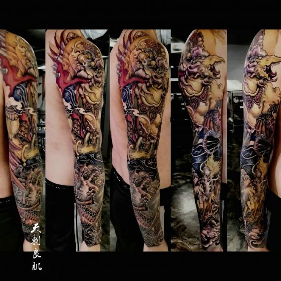 克拉玛依传统花臂纹身